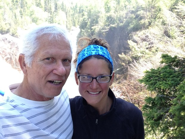 Tom and I at Aguasabon Falls, Schreiber, Ontario, Canada