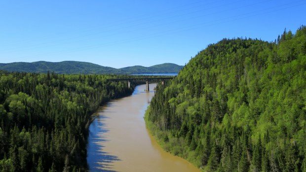Little Pic River from Trans-Canada Highway, Ontario, Canada