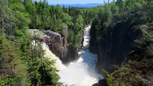 Aguasabon River Gorge and Aguasabon Falls, Schreiber, Ontario, Canada