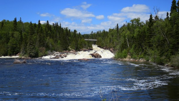 Waterfall at Schreiber Beach, Ontario, Canada
