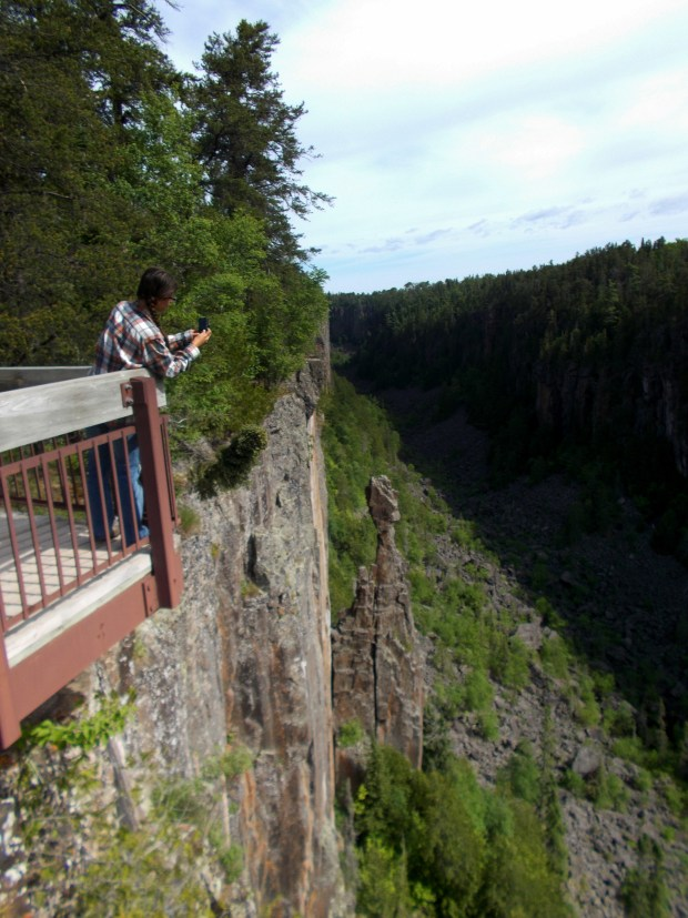 Me taking pictures, Ouimet Canyon Provincial Park, Ontario