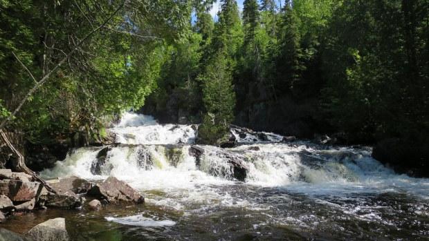 Falls downstream of trail, Rainbow Falls Provincial Park, Ontario, Canada