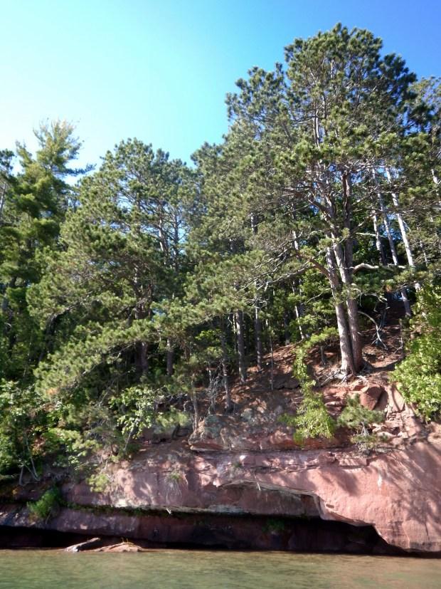 Sandstone ledges,Red Cliff Indian Reservation, Wisconsin