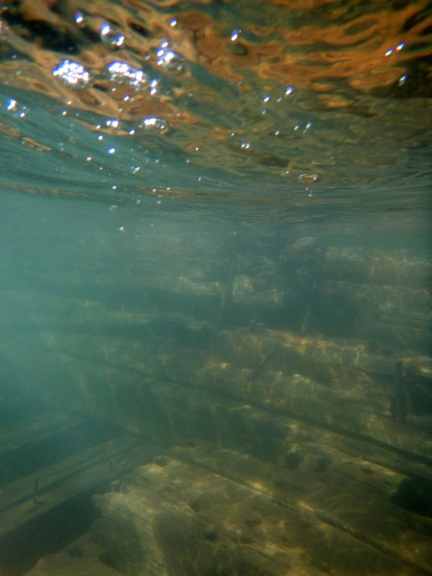 An underwater glimpse of The Ottawa, Red Cliff Indian Reservation, Wisconsin