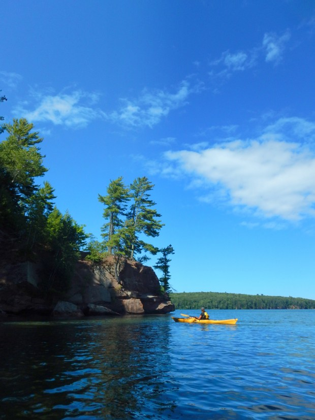 Beautiful blues, Red Cliff Indian Reservation, Wisconsin