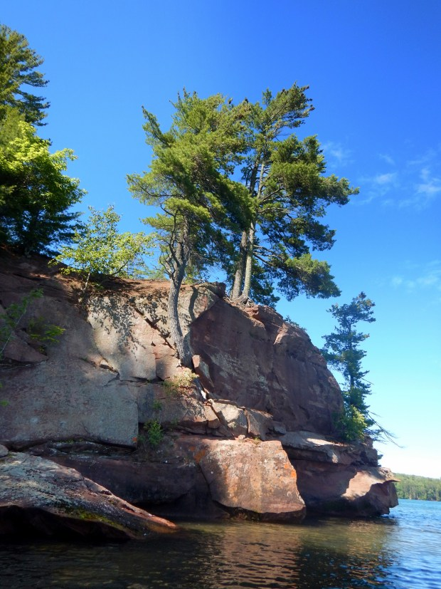 Cliffs and trees, Red Cliff Indian Reservation, Wisconsin