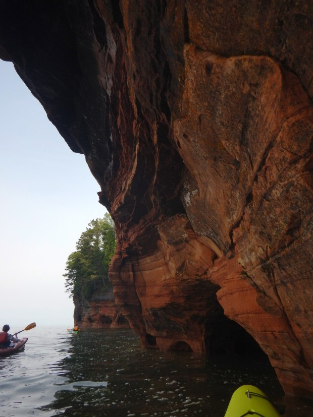 Paddling near the cliffs, Apostle Islands National Lakeshore, Wisconsin