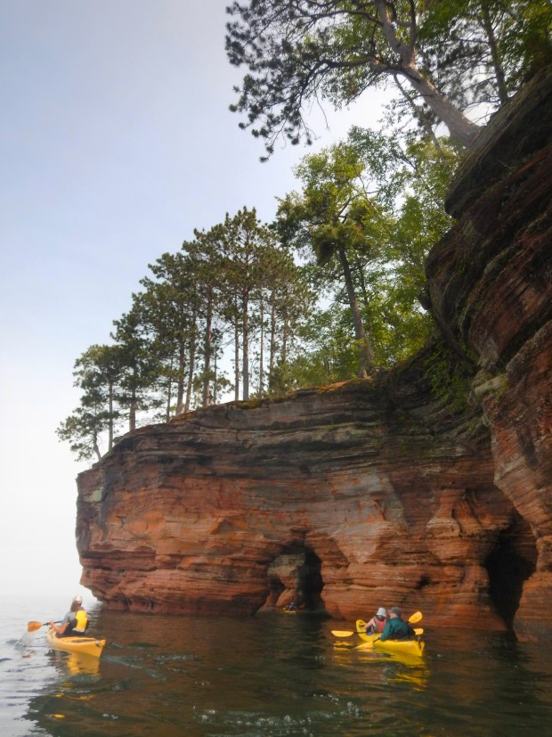First arch ahead, Apostle Islands National Lakeshore, Wisconsin