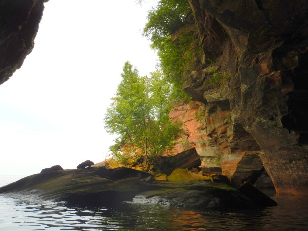 In a shallow cave, Apostle Islands National Lakeshore, Wisconsin