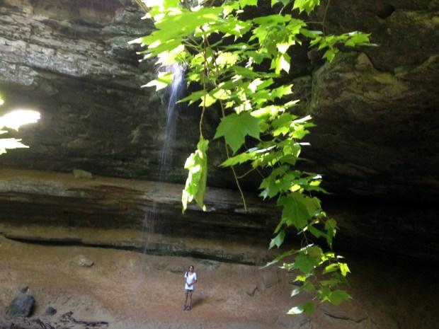 Me behind Memorial Falls, Munising, Michigan