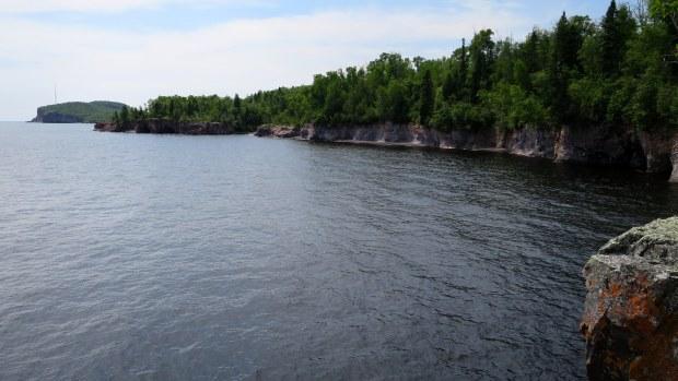 Sea caves on Lake Superior shore, Tettegouche State Park, Minnesota
