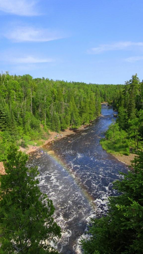 Baptism River downstream of High Falls, Tettegouche State Park, Minnesota