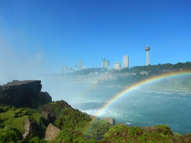 Looking at Niagara Falls, Ontario from New York