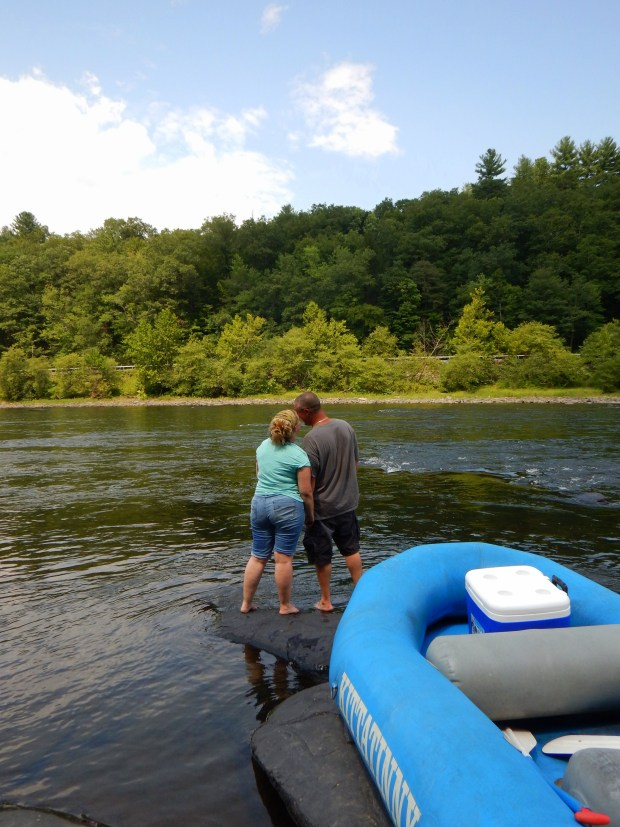 Tina and Kurt, Delaware River, Pennsylvania/New York