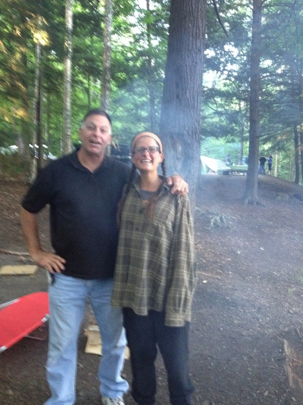 Smoke from the fire not working in our favor – but Robert and I, Moffitt Beach, New York