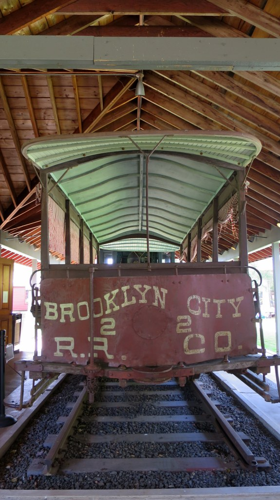 Brooklyn Rapid Transit passenger car bought by Marion River Carry Railroad in 1900, Adirondack Museum, Blue Mountain Lake, New York