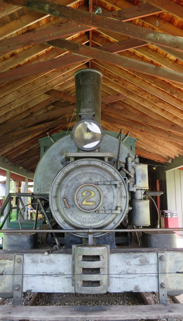 Steam engine of the Marion River Carry Railroad, Adirondack Museum, Blue Mountain Lake, New York
