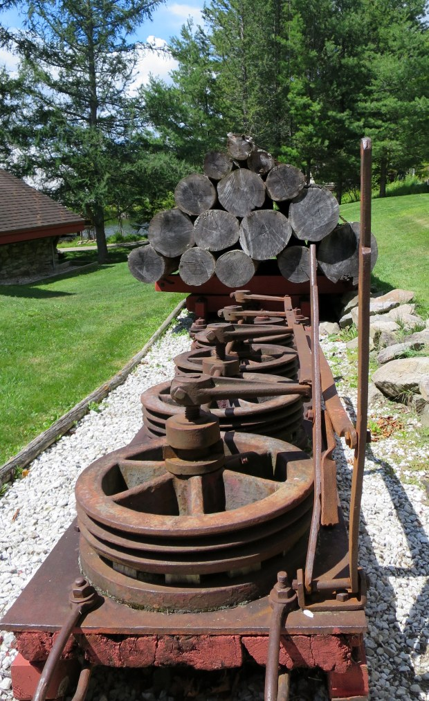 Berienger Brake for logging sled, Adirondack Museum, Blue Mountain Lake, New York