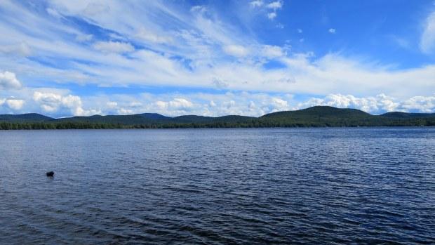 View from near camp on Sacandaga Lake, Moffitt Beach, New York