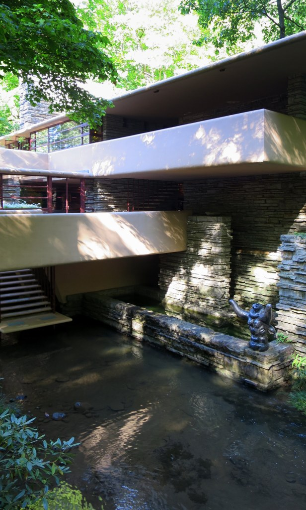 Stairs leading from great room to water level, Fallingwater, Mill Run, Pennsylvania