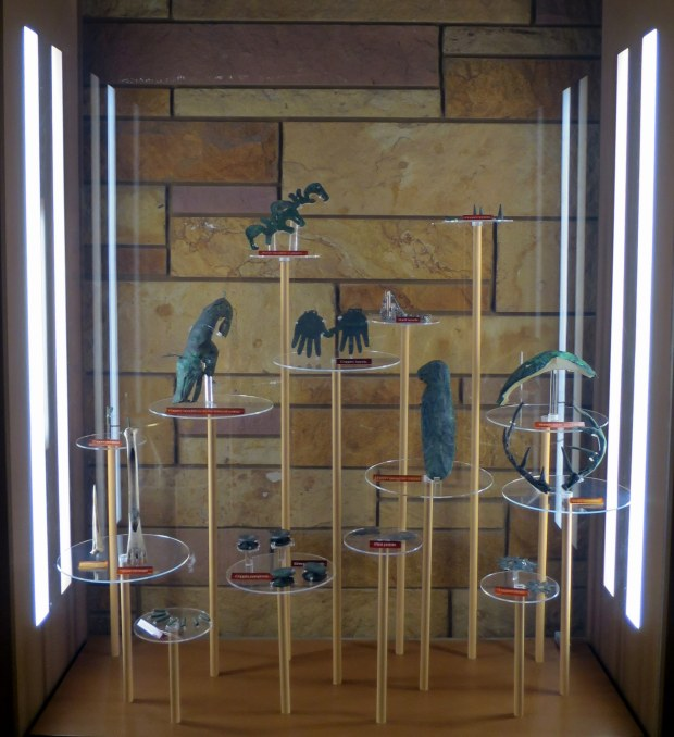More copper effigies and ceremonial objects, Mound City, Hopewell Culture National Historical Park, Ohio
