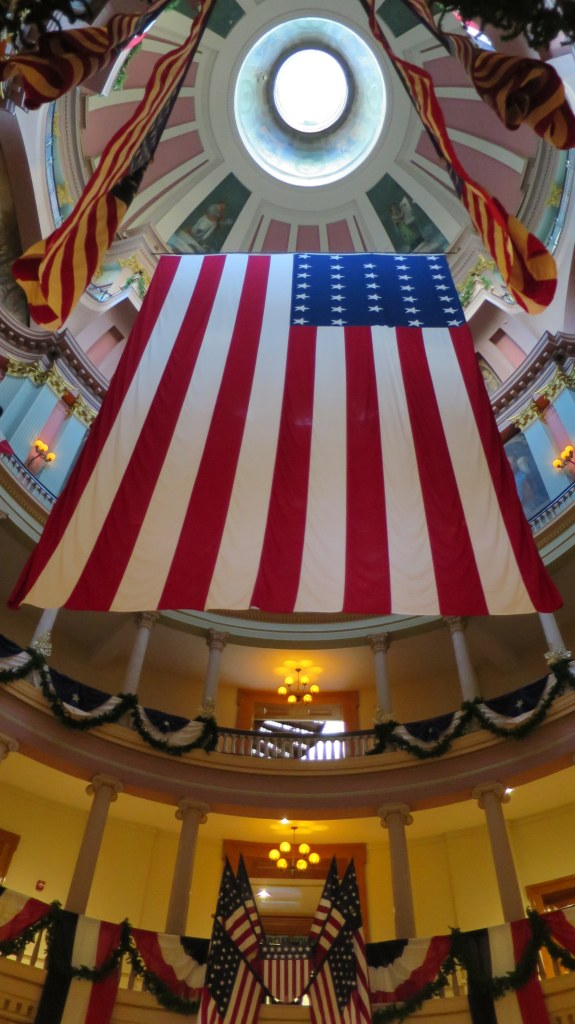 Under the cupola at The Old Courthouse, Jefferson National Expansion Memorial, St. Louis, Missouri