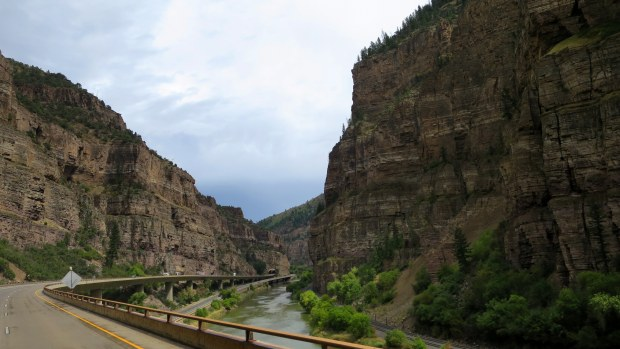 Glenwood Canyon on I-70, Colorado