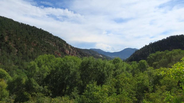 View from the top of the falls, Coyote Trail, Rifle Falls State Park, Colorado