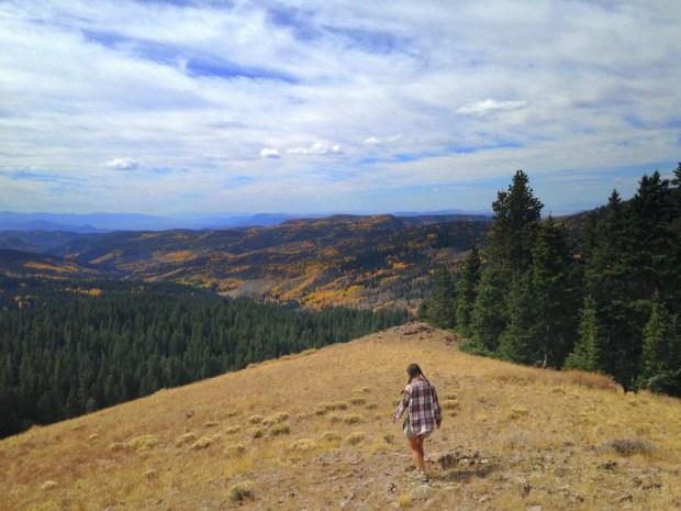 Me walking near Big John Flat, Fishlake Mountains National Forest, Utah
