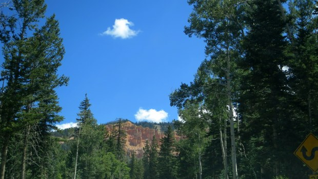 Driving into Dixie National Forest on Route 14, Utah