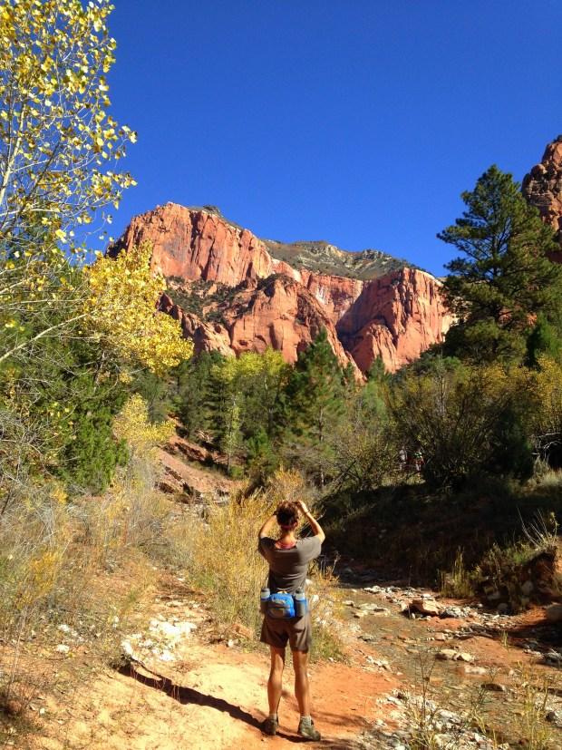 Me taking pictures, Taylor Creek Trail, Kolob Canyon, Zion National Park, Utah