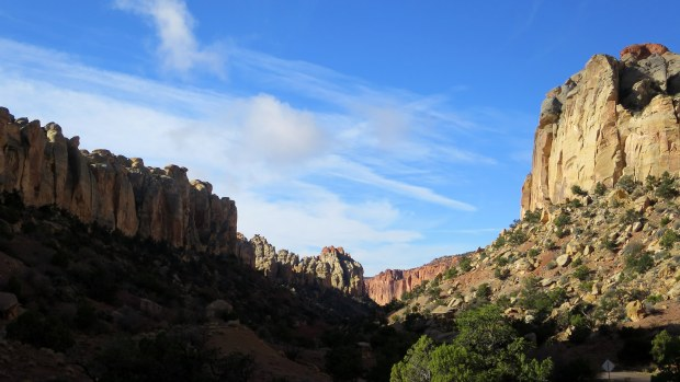 Morning light eradicating the shadows in Long Canyon, Burr Trail, Grand Staircase-Escalante National Monument, Utah