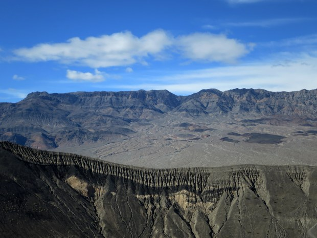 Shot across the rim of Ubehebe Crater, Death Valley National Park, California