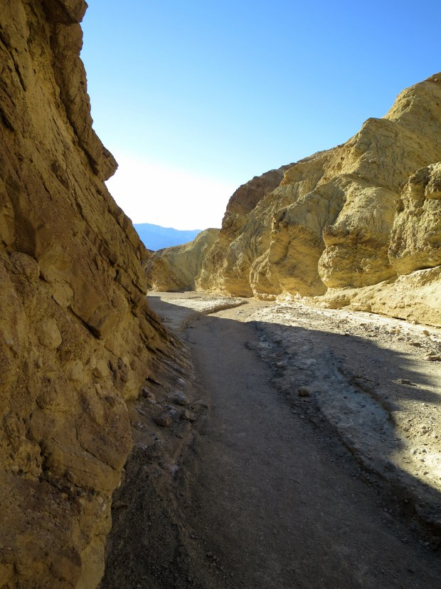 Exiting Golden Canyon, Death Valley National Park, California