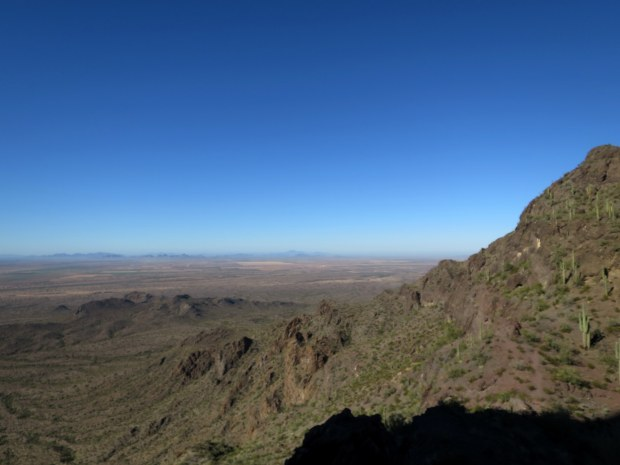 View east from the saddle, Hunter Trail, Picacho Peak State Park, Arizona