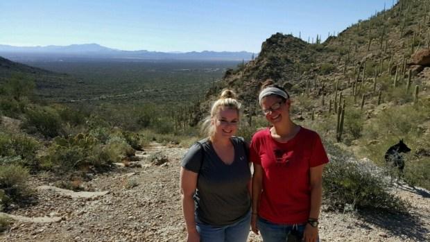 Tina and I, Tucson Mountain Park, Tucson, Arizona