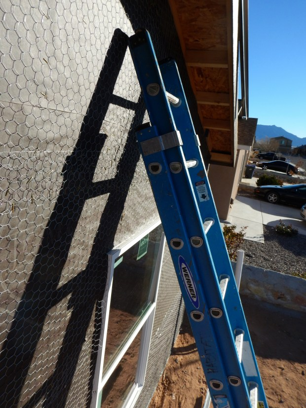 Views while hanging drip edge, Mesilla Valley Habitat for Humanity, Las Cruces, New Mexico