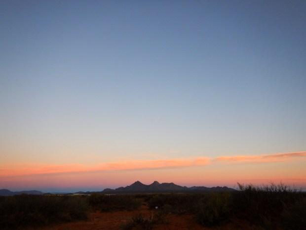 Sunrise on a dogwalk, Las Cruces, New Mexico