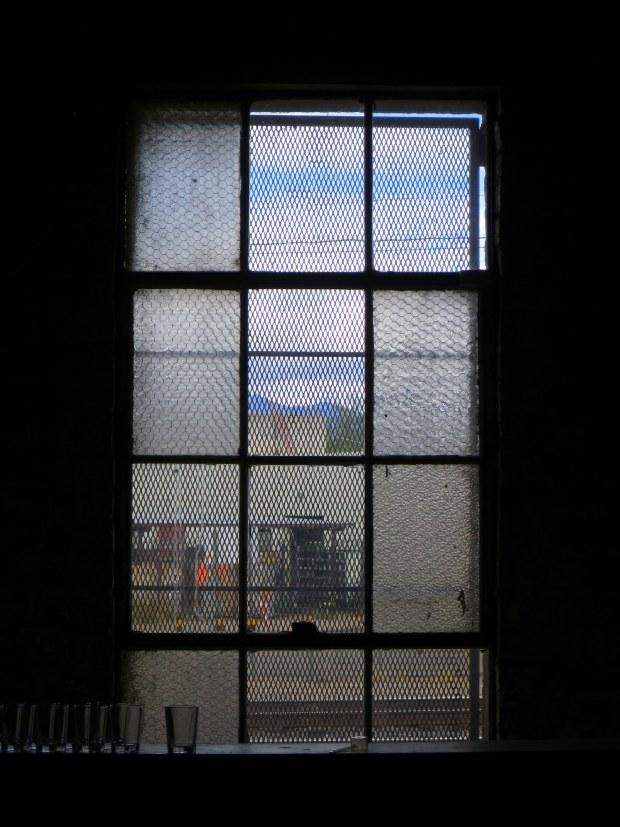 Warehouse window, Borderlands Brewing Company, Tucson, Arizona