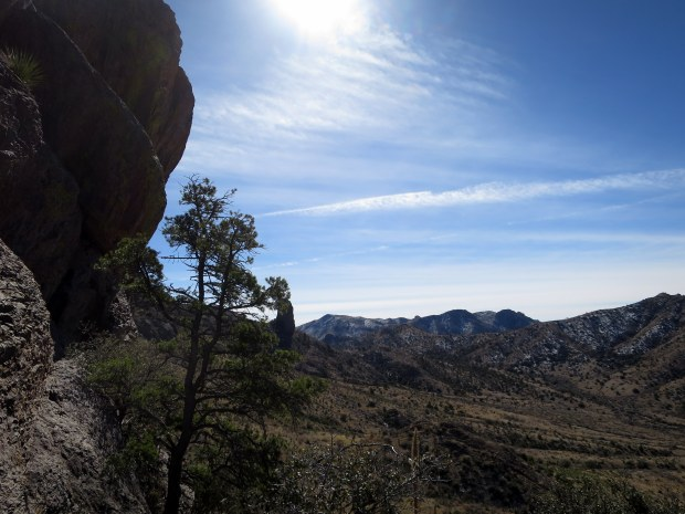 Looking south into Soledad Canyon from the ridge, Soledad Canyon Recreation Area, New Mexico