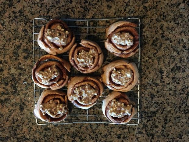 Cinnamon buns ready to go in my face