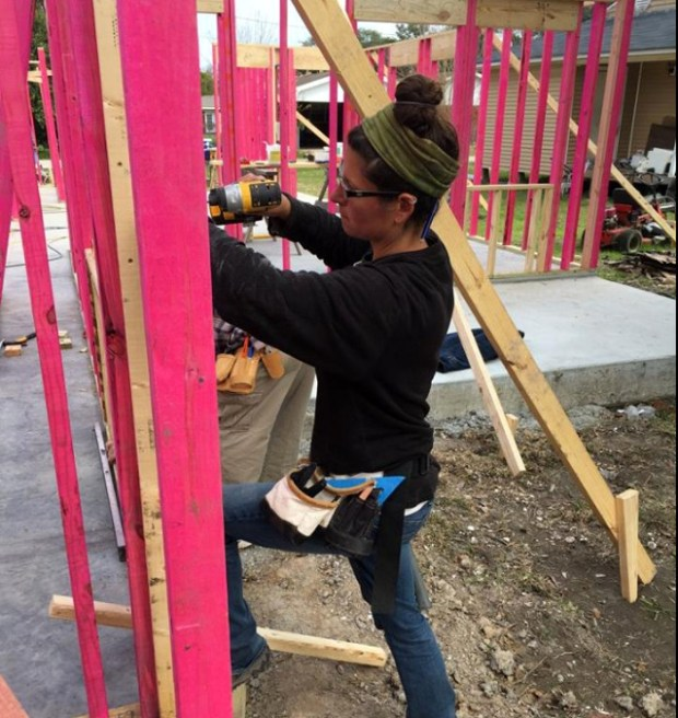 Me plumbing and attaching walls