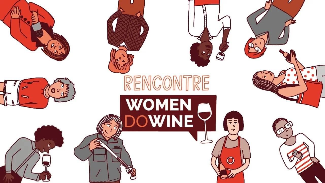 women do wine