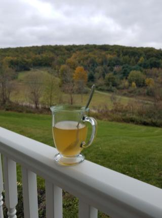 Tea on a fall morning