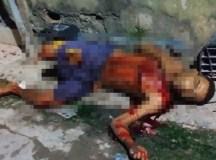 Imagens fortes – Homem é morto a tiros no bairro Crespo em Manaus
