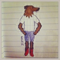 Wolf with the red boots.