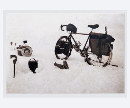 Mackenzie River ice highway campsite