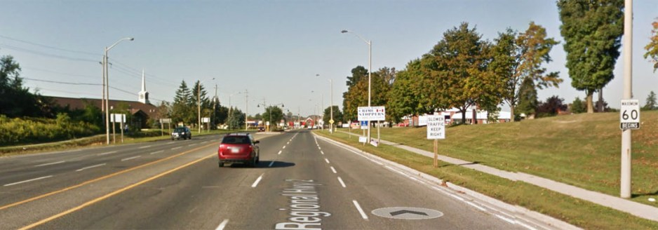 Durham Regional Rd 2, looking west (Google street view)