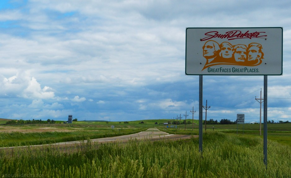 At the North Dakota/South Dakota border on US Hwy 12 near Lemmon, South Dakota. June 15, 2014.