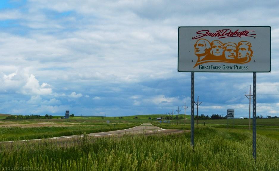 At the North Dakota/South Dakota border on US Hwy 12 near Lemmon, South Dakota. June 15, 2014.